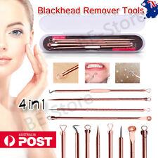 4Pcs Blackhead Remover Acne Pimple Popper Extractor Blemish Comedone Tool Set AU