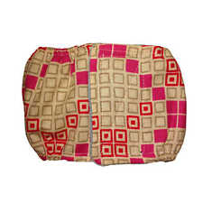 Male Dog Diaper - Made in USA - Pink Square Windows Washable Dog Belly Band M...