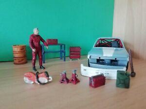Miniature Garage Set 1:43 Scale die cast diorama