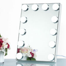 White Led Bulb Vanity Lighted Hollywood Makeup with Dimmer Stage Beauty Mirror