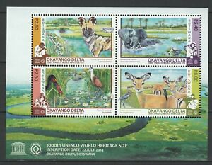 Botswana 2015 Fauna, Animals, Birds, Okavango Delta MNH Sheet