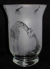 """New & Unique """"GIRAFFE"""" Frosted Glass Vase -  Can be used with sand, pot pourri"""