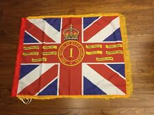 Royal Dublin Fusiliers Kings Colours 1st Battalion Fringed flag