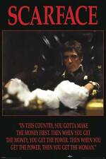 Scarface Movie Film 24x36 Fine Art Print Poster Al Pacino Gangster Decor Z160