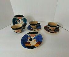 Staffordshire Shorter & Sons England Toby Cup & Saucer Set of 3 + Extra Saucer