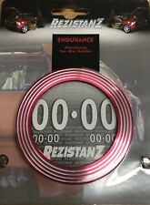 Rezistanz Car Silver & Red Endurance Aluminium Tax, Permit, Badge Disc Holder