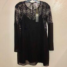 BCBG GENERATION Black Longsleeve Lace Party Dress Small NWT