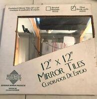 6 Mirror Tiles 12 X 12 Glass
