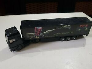 SIKU 1627 Miniature MAN TRUCK & TRAILER (RACE CAT) 19cm Long - Diecast & Plastic