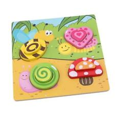 Educational Toys Wooden Puzzles Matching Board Handmade Playing For Toddler HD