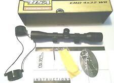 "BSA EMD 4x32 Essential TELESCOPIC Air Gun Rifle SCOPE Sight + 11mm 3/8"" Mounts"
