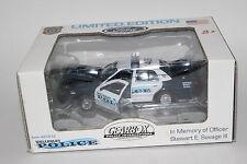 GEARBOX POLICE VEHICLES, WELLESLEY, MA POLICE CRUISER, OFCR SAVAGE, 1:43, NIB