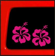 Hawaiian Hibiscus Sticker pink Vinyl Decal car truck window laptop flower hawaii