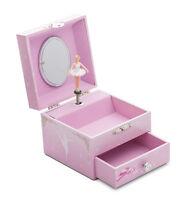Girls Small Pink Ballet Dance Music Jewellery Box Chest By Katz Dancewear JB26