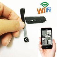 Mini WIFI Cámara Inalámbrica de espía del agujero vídeo digital  DVR - Negro