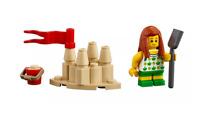 Lego ® City Minifig Figurine Enfant Plage Chateau de Sable NEW