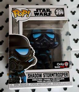 Funko Pop Star Wars 394 Shadow Stormtrooper Game Stop Exclusive Vinyl Figure