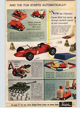 1966 PAPER AD Toy Ford tractor Battery Operated Toy Remco Bulldog Tank Farrari