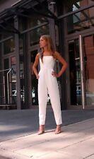 Topshop White Bandeau Structured Jumpsuit , Size 10 BNWT £60