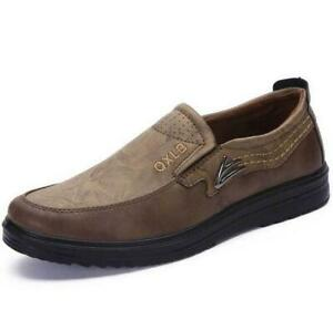 Classic Men's Suede Casual Moccasin Shoes Breathable Non-Slip Loafers Oversized