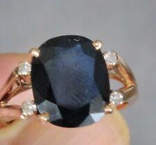 Stunning 18ct Gold Sapphire & Diamond Ring. Size M