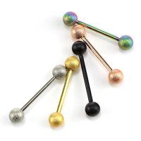 7PC//Set Glow In The Dark Ball Barbell Eyebrow Rings Bar Tragus Piercing YF