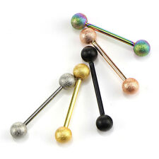 5Pcs 14G Surgical Steel Mixed Barbell Bar Tounge Rings Piercing Body JewelryTous