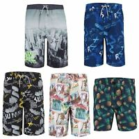 Teens Printed Swimming Shorts Boys Summer Surf Board Beach Bottoms Sizes 10-16 Y