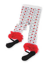 "NWT MUD PIE BABY- CHRISTMAS TIGHTS "" I LOVE SANTA"" TIGHTS - SZ 12-18 MONTHS"