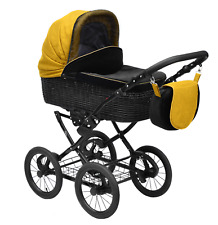 Baby Pram Pushchair and Stroller Buggy Style Retro Travel system car seat  3in1