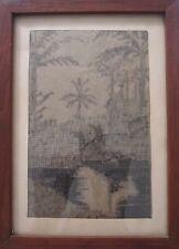 Antico American Modernism Folk Art da Scrivere Waldschmidt Metamora Il Genealogy