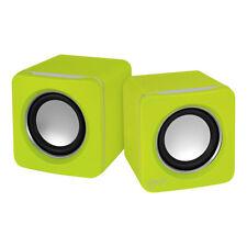 ARCTIC S111 (Lime) - 2.0 Lautsprecher Multimedia Boxen für Notebook - PC