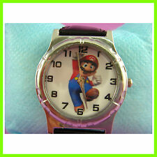 NEW Super Mario Bros. Black Quartz Fashion Child Boy Men Wrist Watch Wristwatch