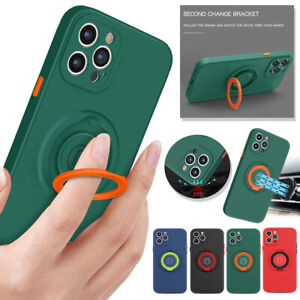 Anti-shock Soft Phone Case Ring Holder Cover for iPhone 13 Pro Max 12 MINI XR XS