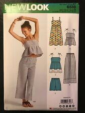 New Look 6518 (Sizes: 6-18) Misses' Babydoll Tank, Dress, Pants & Shorts **NEW**