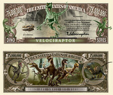 VELOCIRAPTOR BILLET MILLION DOLLAR US! Collection Dinosaure Animal crane crétacé