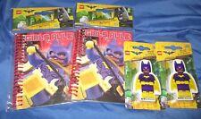 THE BATMAN LEGO MOVIE Batgirl (2) Notebook & (2) Eraser Lot ~GIRLS RULE