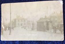 RPPC Real Photographic Postcard -The Crofters, Bolton, Lancashire - Cab Rank.
