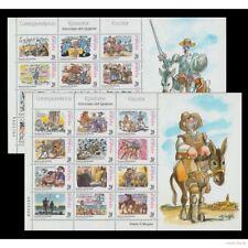 Sellos de España 1998 Quijote Mingote Edifil 3560/3583 En Hojas Efilcar Nuevo