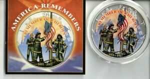 2002 AMERICAN HEROES REMEMBERED COLORIZED SILVER DOLLAR