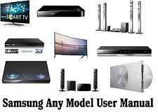 New Printed A5 Samsung User Instruction Manual Any Model HDD Recorder TV Blu Ray