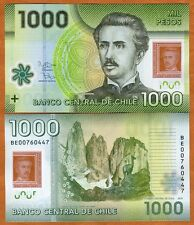 Chile 1000 (1,000) Pesos, 2012 (2014) Polymer Pick 161-New Date and sig. UNC