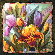 Heirloom Iris by Nancey Cawdrey Art Deco Floral Flowers Garden Open Edition