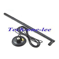 2X  WIFI 15dbi Antenna 2.4GRP SMA male+ Magnet Base RP SMA jack Extension cable
