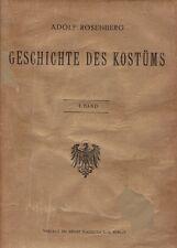 Libro - Geschichte des Kostüms Vol. I - verlegt Bei Ernst Wasmuth A.G. Editore