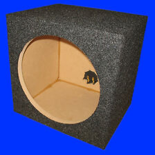 "10"" SINGLE .50 CU.FT. UNIVERSAL GREY SUBWOOFER SUB SPEAKER ENCLOSURE BOX"