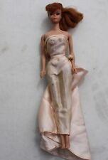 Vintage Mattel Barbie MCMLVIII w/ Gown Blue Eyes Pink Coral Lips Ponytail #6 #7