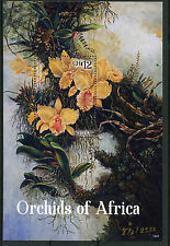 Ghana 2014 MNH Orchids of Africa 1v S/S II Flowers Flora Moth Orchids