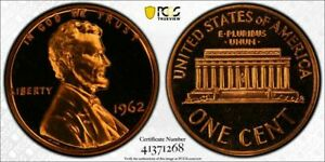 1962 1 Cent Penny PCGS PR68RD CAM Stunning