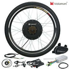 "48V Electric Bicycle Bike Motor Conversion Kit 1000W 26"" Rear Wheel Hub Cycling"